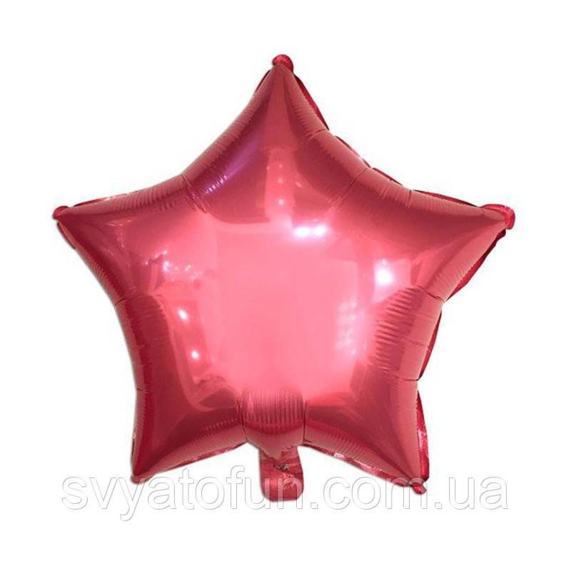 """Фольгированный шар звезда розовый 18"""" Китай"""