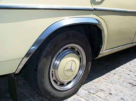 Накладки на арки (4 шт, нерж) - Mercedes W123
