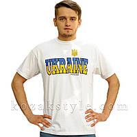 """Футболка """"Ukraine"""" біла, фото 1"""