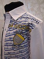 Красивая белая рубашка для мальчиков нарядная