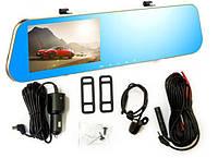 Видеорегистратор зеркало DVR DV 460 с двумя камерами Gold, авторегистратор, зеркало регистратор
