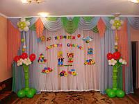 Оформление воздушными шарами на выпускной в детском саду