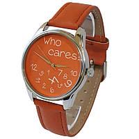 Часы Who cares оранжевые