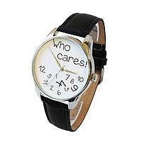 Часы Who cares бело-черный