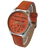 Часы Late оранжевый
