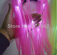 Светодиодный обруч, волосы 50см для ночных мероприятий! Синий, фото 3