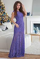 Шикарное фиолетовое женское гипюровое платье Карпиз. Арт-7501/7, фото 1