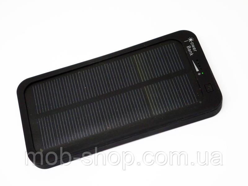 Повер банк Power Bank 5000 mAh на солнечных батареях