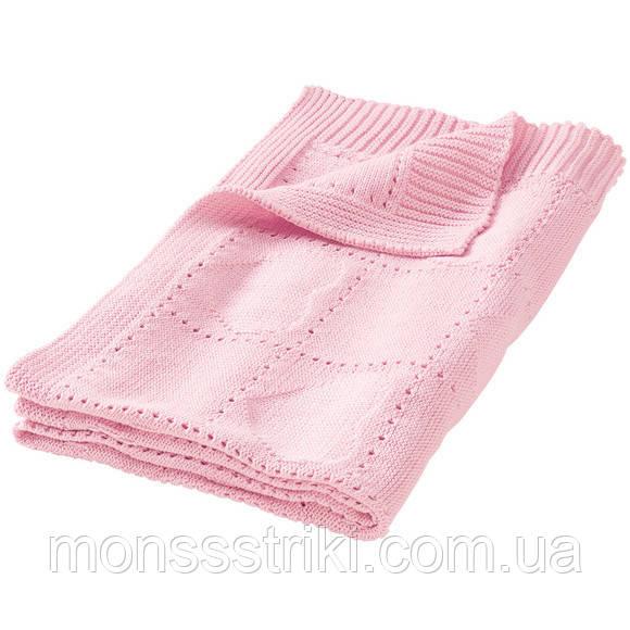 вязаный плед для новорожденного 75 х 100см купить брендовая одежда