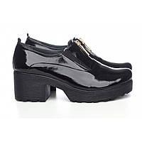 Лаковые туфли спереди на молние , фото 1