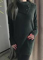 Женский свитер хаки. Размер S, M, L.