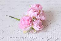 Декоративные пионы 6 шт., 3 см. диаметр розового цвета, фото 1