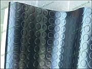 Дорожка резиновая транспортный линолеум Круги черный