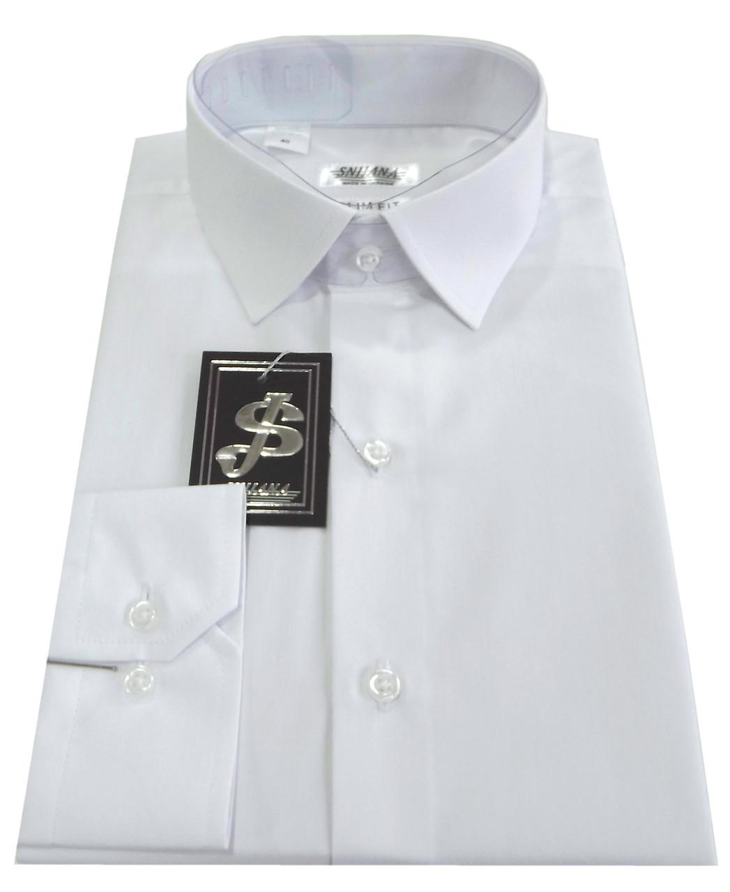 Рубашка мужская белая №10- Dacron 1