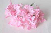 Декоративные цветы лилии диаметр 5 см,розового цвета, фото 1