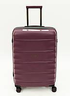 """УЛЬТРАЛЕГКИЙ Французский чемодан Средний из полипропилена на 4-х колесах """"AIRTEX PARIS"""" 242 М  burgundy"""