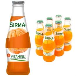 Вода натуральная минеральная газированная со вкусом мандарина Sirma 200 мл
