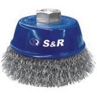 Щетка проволочная S&R 135130081, 80mm, d 0.30, сталь