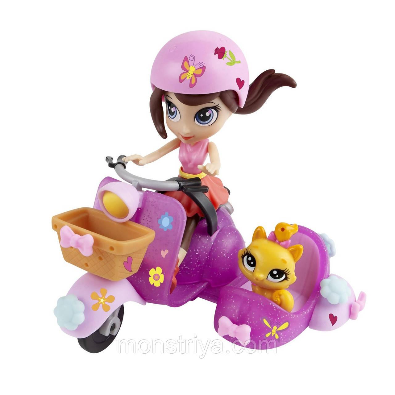 """Littlest Pet Shop Игровой набор """"Блайс на скутере"""""""