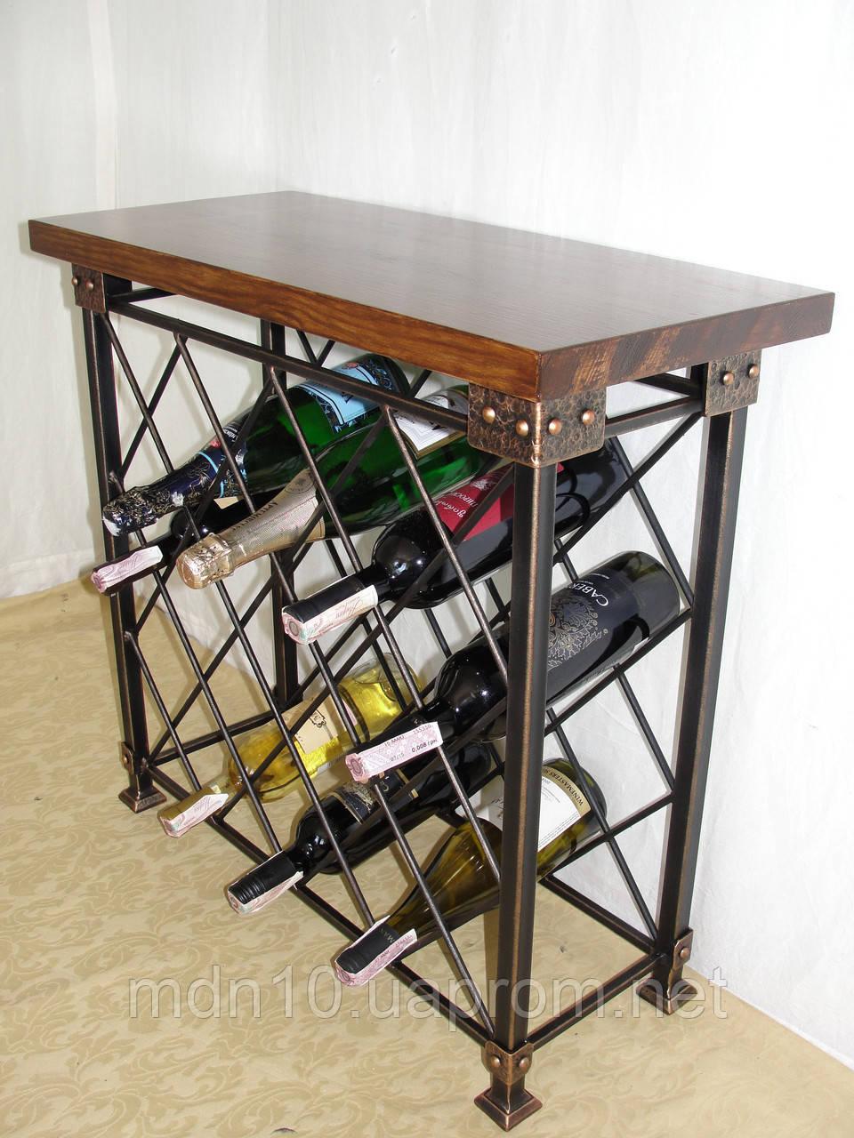 Стол-стелаж для вина кованый  - 105-1