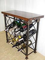 Стол-стелаж для вина кованый  - 105-1, фото 1