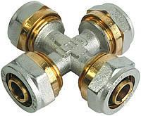 Крестовина для металлопластиковой трубы Forte 16*16*16*16