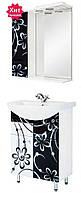 """Комплект мебели для ванной комнаты """"ЧЕРНО-БЕЛАЯ РОМАШКА"""" 60 см."""