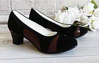 Черные замшевые женские туфли. Обувь VISTANI