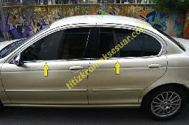 Нижняя окантовка стекол (нерж) - Jaguar X-Type