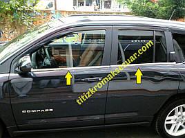 Нижняя окантовка стекол (нерж) - Jeep Compass 2006-2016 гг.