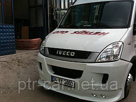 Накладка на передний бампер (под покраску) - Iveco Daily 2006-2014 гг.
