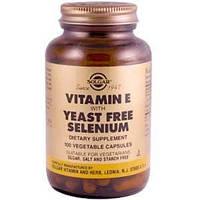 Витамин Е с селеном, Solgar (Солгар),  100 капсул