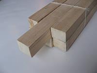 Брус 50х50 строганный для горизонтальных реек и столбиков
