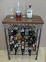 Стол-стелаж для вина кованый  - 105-2, фото 1