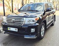 """Докладка переднего бампера """"Platinum Edition"""" для Toyota Land Cruiser 200"""