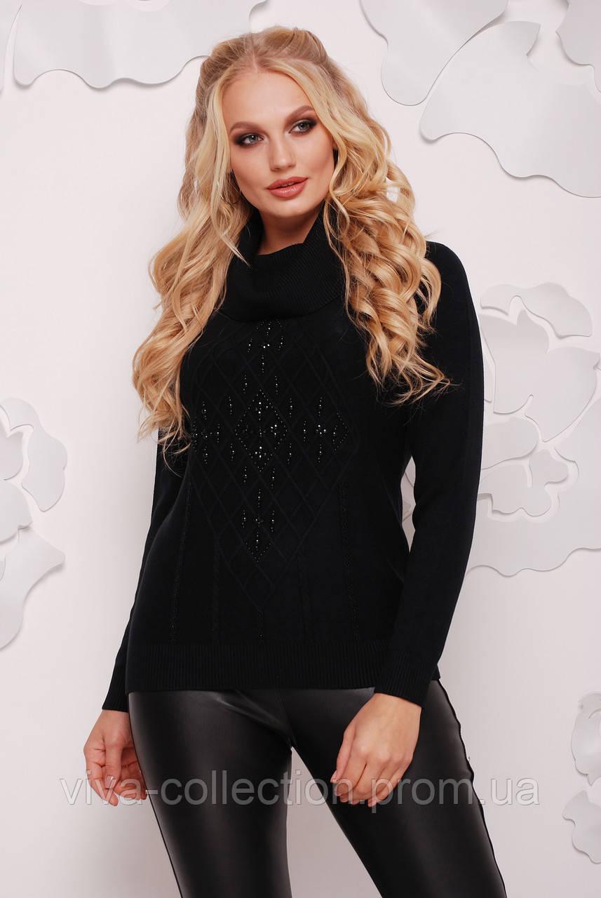 74e7c27424d6 Теплый женский свитер с хомутом