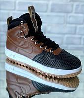 Кроссовки мужские Nike Lunar Force D5077 черно-коричневые