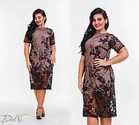 Нарядное платье с кружевом(2 расцветки) А4685С41.177