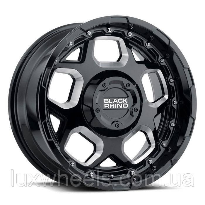 """BLACK RHINO Gusset GLOSS BLACK (9.5"""")"""