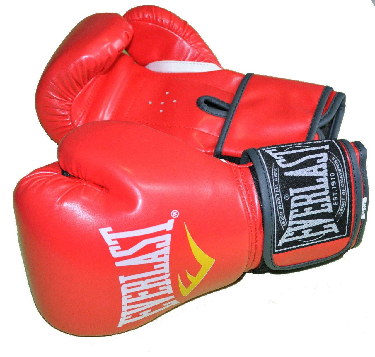 Боксерские перчатки в стиле EVERLAST BO-3987-10RD   размер 10 унц.