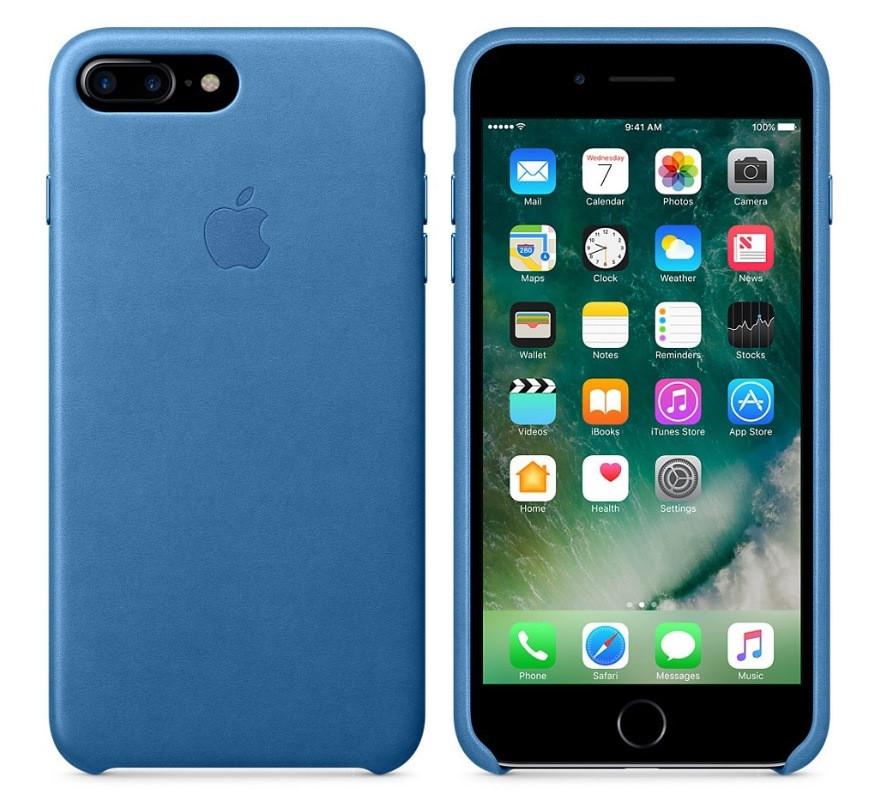 """Накладка iPhone 7+ """"Leather Case"""" Фиолетовая"""