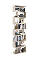 Стеллаж для дома высокий  из ДСП может быть этажеркой очень удобный для хранения вещей.