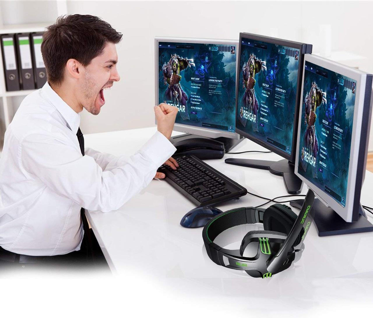 Игровые наушники с микрофоном 3,5 мм. геймерские для компьютера ПК X-SHARK Salar KX101
