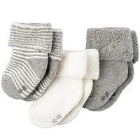 Махровые носочки для новорожденного (3 пары)   1-2, 2-6  месяцев, фото 1