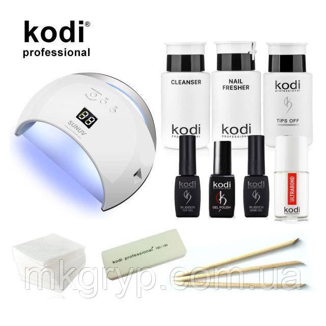 Стартовый набор гель лаков Kodi  c UV LED лампа SUN 6  48 Вт. № 27