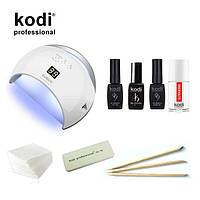 Стартовий набір гель лаків Kodi c UV LED лампа SUN 6 48 Вт. № 28