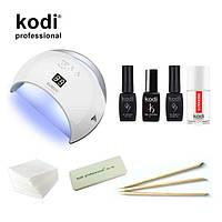 Стартовый набор гель лаков Kodi  c UV LED лампа SUN 6 48 Вт. № 28