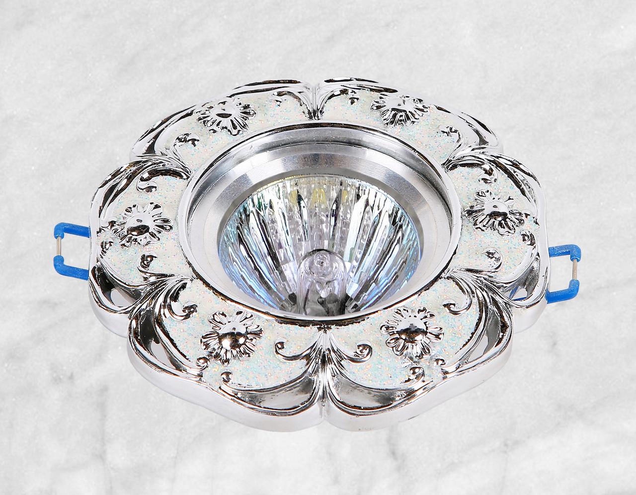 Точечный врезной светильник (47-2453 серебро)
