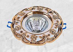 Точечный врезной светильник ( 47-2453 золото)