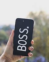 """Чехол матовый  """"BOSS"""" на iphone 7/8 Plus"""